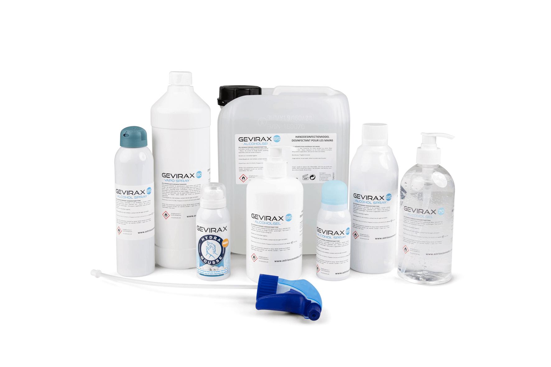 Astrios Cosmetics Gevirax producten